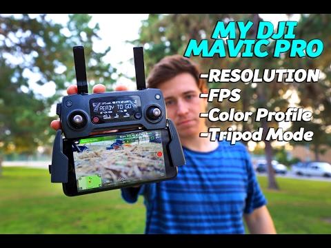 DJI MAVIC PRO | SETTINGS, COLOR PROFILE, FPS & 4K | Zack Bergman
