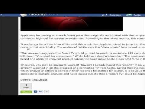 Apple SmartTV release in late 2011?
