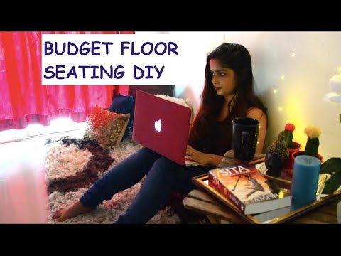 Cheapest way to create living room seating || How to create Sofa alternate floor seating || DIY