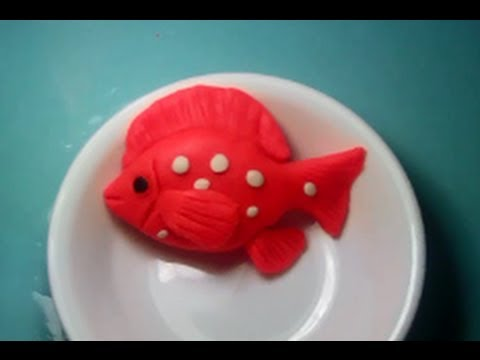 Making of fish from clay