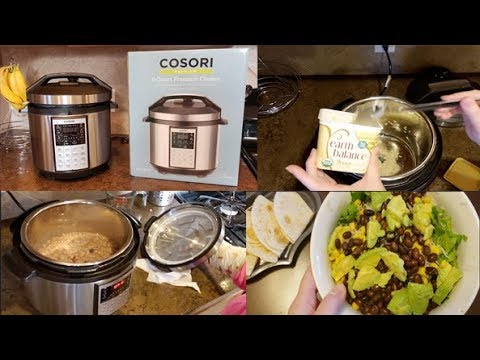 Trying my new COSORI pressure cooker !!!!!
