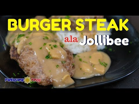 Jollibee Inspired Burger Steak Recipe with Mushroom Gravy