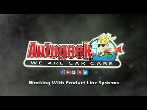 Working with car care products systems