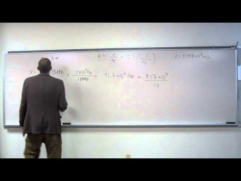 Calculate Wavelength (λ) From Frequency (ν) 001