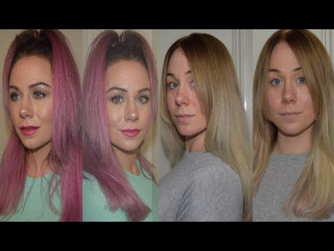 CHALLENGE: PINK OMBRE TO BLONDE HAIR | KATY HARMSTON