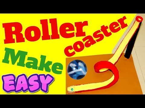 how to make a roller coaster out of cardboard from paper esay homemade diy project