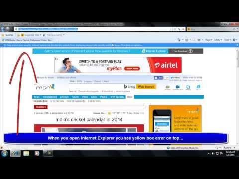 How to Remove Internet Explorer Security Error Message