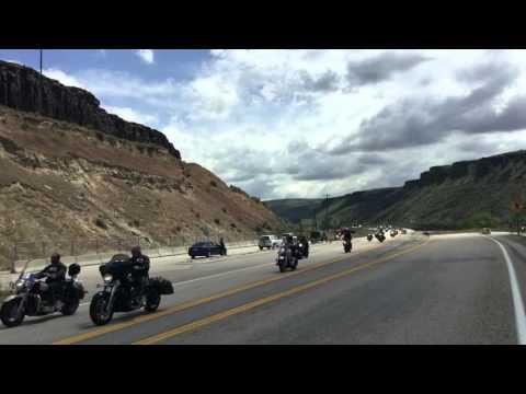 Bikers on Highway 21 Boise, Idaho. 5-7-16.