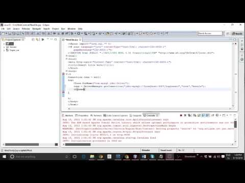 JSP TO MySQL Workbench connection in Eclipse IDE
