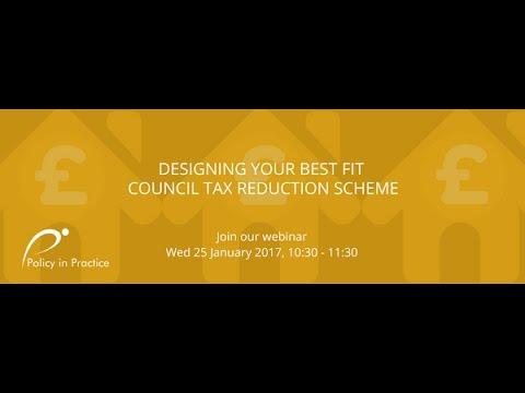 Designing your best fit Council Tax Reduction scheme