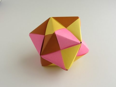 Origami Sonobe Octahedral Unit