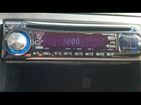 how to set the clock on Kenwood stereo!