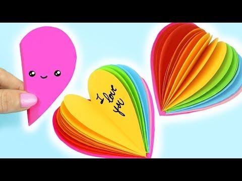 DIY MINI NOTEBOOKS RAINBOW HEART