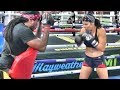 ModelUndefeated Pro Boxer Tamar Israeli Kills The Pads With Dewey Cooper