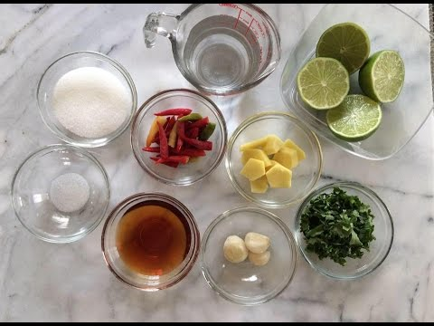 How to make JEOW SOM | Spicy Ginger Sauce | House of X Tia | Lao Food