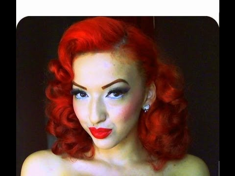 Vintage Retro Pinup Pin Curl Hair Tutorial