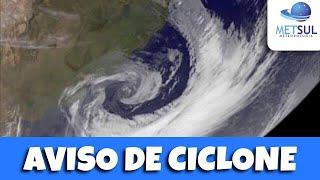 30/06/2020 - Ciclone intenso trará muito vento no RS e SC nesta quarta | METSUL