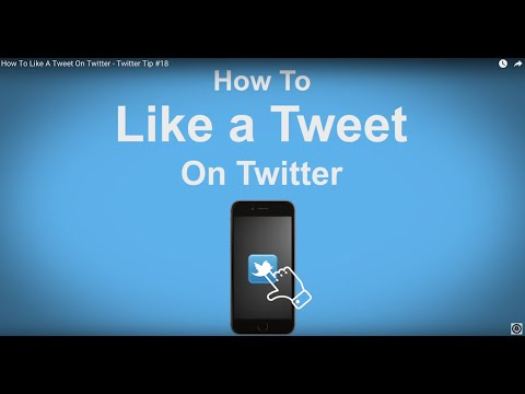 How To Like A Tweet On Twitter  - Twitter Tip #18