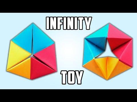 Origami Rotating Tetrahedron Toy. (Instructions) (Full HD)