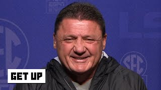Ed Orgeron reacts to LSU's No. 1 CFP ranking and win vs. Alabama | Get Up