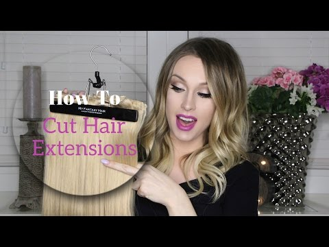 How To: Cut Hair Extensions At Home