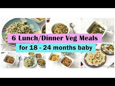 6 Veg Recipes ( for 18 - 24 months baby ) | Indian babyfood | toddler recipes |