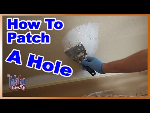 How To Patch A Hole In Drywall.  DIY REPAIRS
