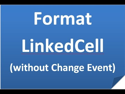 How to Format LinkedCell TextBoxes the Easy Way! Excel VBA