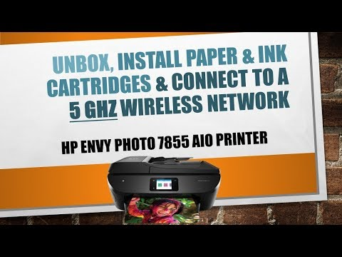 HP Envy Photo 7855 | 7864 | 7830 | 7820  printer Unboxing Connect to 5GHz Wireless network
