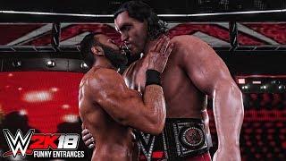 WWE 2K18 - Top 10 Funny Entrances Ft John Cena, Jinder Mahal, Great Khali, Triple H & More!
