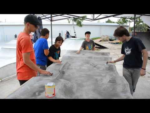 Concrete fingerboard park in Kladno