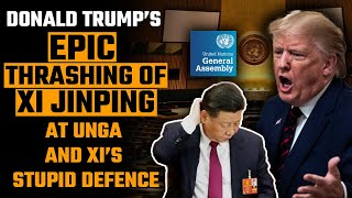 Donald Trump ripped into Xi Jinping and Jinping bleated like a goat at the UNGA