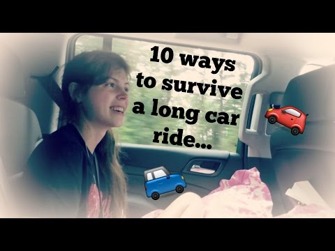 10 ways to survive a long car ride...   JustJulie36