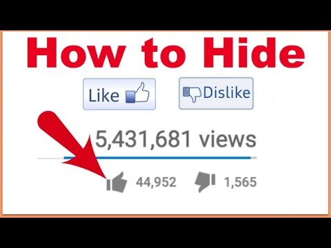 How to Hide 👍Likes & 👎 Dislikes on Youtube Videos