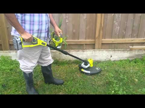 RYOBI ONE+ Lithium+ 18-Volt Lithium-Ion Cordless String Trimmer/Edger in Action