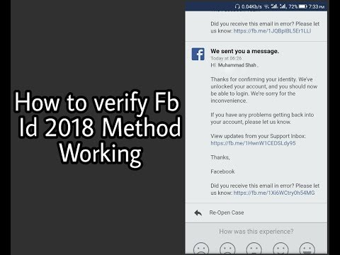 How To Verify Facebook Account 2018 Method Urdu Hindi Tutorial Working