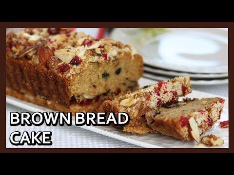 Eggless Brown Bread Cake | Bread Crumb Cake Recipe | Bread Cake | Healthy Kadai