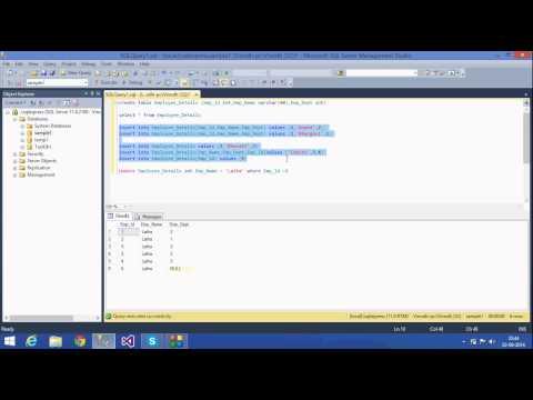 2. SQL Server Tutorials -Telugu (Insert ,Update,Delete)