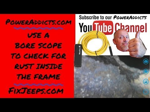 See rust inside the frame with an endoscope. #endoscope #borescope