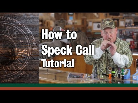 How to use a Speck Call
