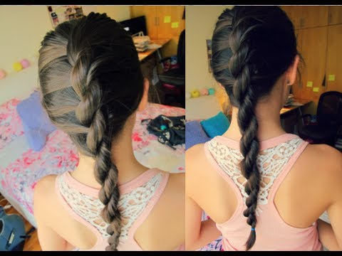 Tutorial: French Rope Braid  {+NO HEAT WAVY HAIR}