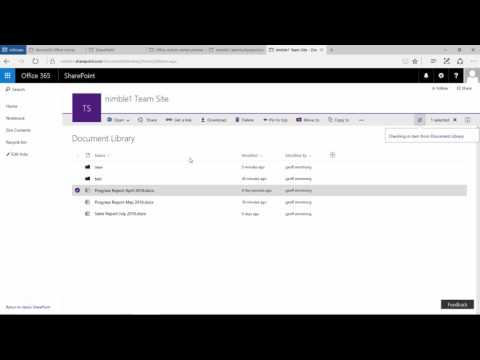 New Document Library in SharePoint 2016 (Part 3)