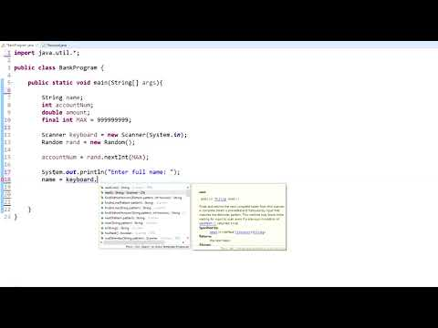 Java Programming Tutorial - 18 - Getting user Input and Creating Objects
