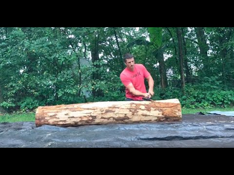 Hand Hewing - Time Lapse
