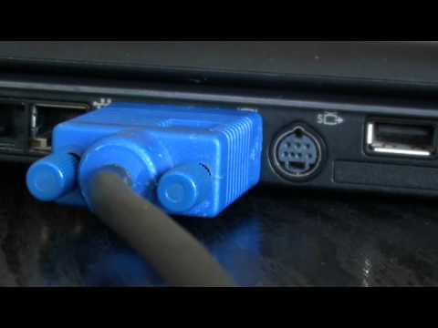 How to connect Laptop to TV using VGA cable