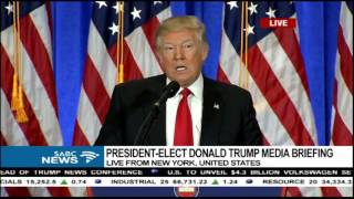 US President elect, Donald Trump media briefing