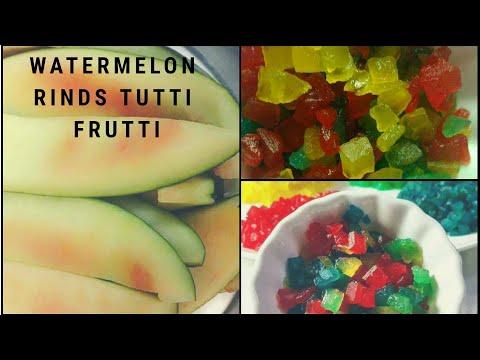 Tutti Fruitti Recipe |टूटी फ्रूटी रेसिपी | Candied watermelon Candy |Tutti Frutti from watermelon