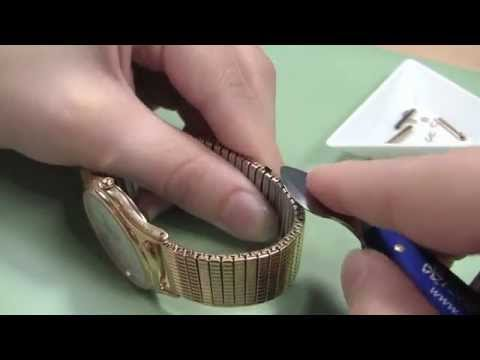 Watch Band Adjusting - How to Remove U-Clip Expansion Links