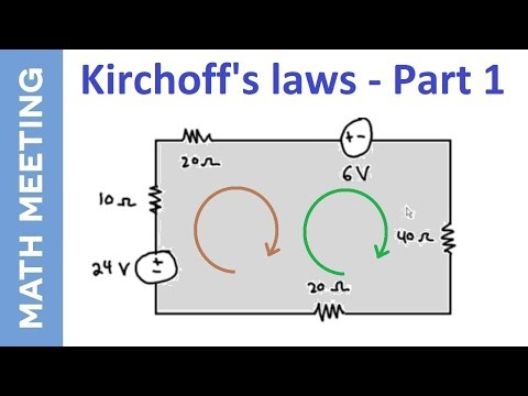 Kirchoff's Law - Circuits tutorial - Part 1