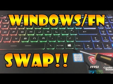 MSI Windows / FN Key Swap - EASY!